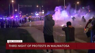 Third night of protests in Wauwatosa