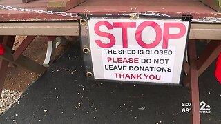 Tornado damage shuts down clothing shed