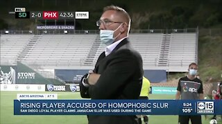 Phoenix Rising coach responds after player accused of using slur