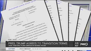 President Trump agrees to transition terms