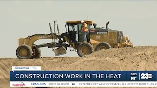Construction workers share how they stay safe working in triple-digit heat