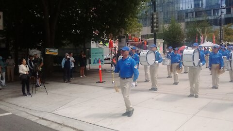 Falun Gong marching band Vancouver