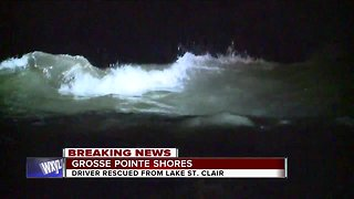 Driver rescued from Lake St. Clair in Grosse Pointe Shores
