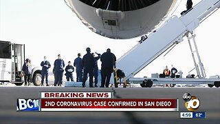 2nd coronavirus case confirmed in San Diego