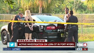 Active investigation on Lora Street in Fort Myers