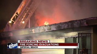 Fire at Imperial Beach duplex forces evacuations