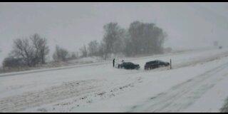 Snow Storm today in Mingo, IOWA