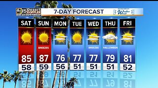 Cooler weather heading for the Valley