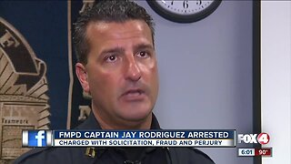 Fort Myers police captain arrested for soliciting prostitute, fraud, perjury
