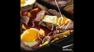 Chilaquiles with Skirt Steak and Eggs
