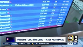 Winter storm causing travel nightmare across the country