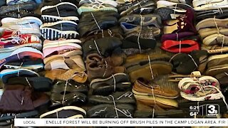 Positively the Heartland: Woman collects shoes to fund missionary work