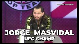 UFC Champ Jorge Masvidal RIPS Dementia Joe VOTE Trump