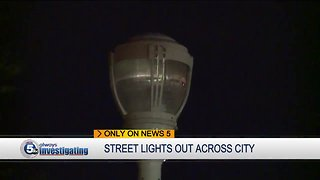 Broken street lights have been out for a year