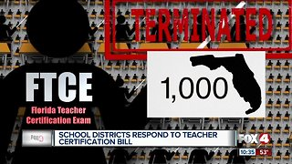 Florida school districts respond to bill taking aim at teacher certification (FTCE) controversy