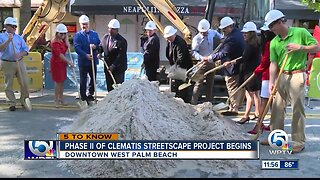 Groundbreaking ceremony held for Phase II of Clematis Streetscape project