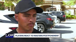 Players react to postponement of Masters Tournament