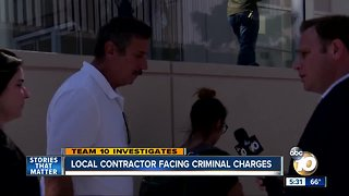 Local contractor facing criminal charges