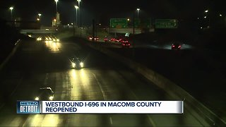Westbound I-696 reopens in Macomb County