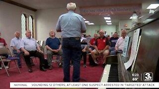 Local barbershop singing group reunites