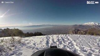 Un volo adrenalitico tra le montagne e gli alberi dello Utah