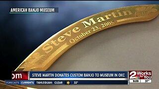 Steve Martin donates banjo to Oklahoma City museum