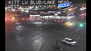 Police say motorcyclist ran red light before fatal crash on Las Vegas Boulevard