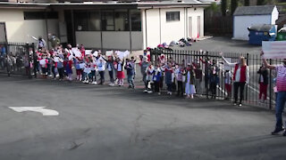 "Local School Kids Honor Veterans in a ""Reverse Parade""."