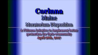 20170426 Corinna Moratorium Status