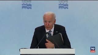 CREEP: Biden Cowers and Whispers to the Press After Saying He'll Get in Trouble with His Staff