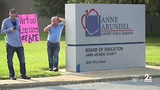 Frustrated parents rallied to re-open schools in Anne Arundel County