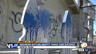 North Park neighbors battle graffiti