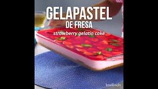 Strawberry Jello-Cake