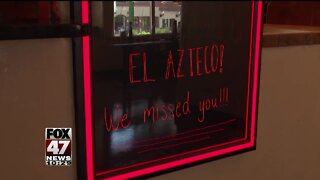 Restaurants welcome customers back after reopening