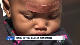 8-month-old baby injured from ricocheted 'metallic fragment' during shooting in Cleveland