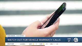 Watch out for vehicle warranty calls