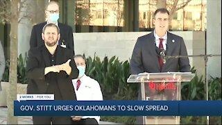 Gov. Stitt urges Oklahomans to slow spread of COVID-19