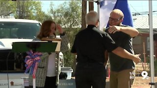 Local veteran and his family surprised with mortgage-free home