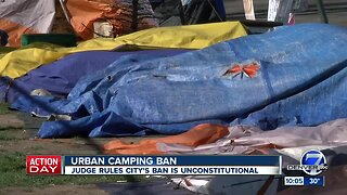 Judge rules that Denver's urban camping ban is unconstitutional o