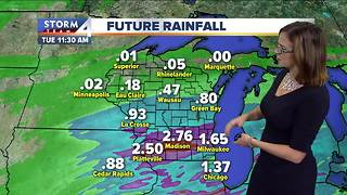 Cloudy with showers and afternoon thunderstorms