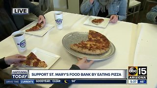 Buy Barro's Pizza, support St. Mary's Food Bank