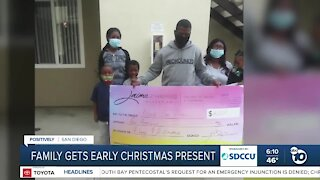 Family gets early Christmas present