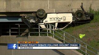 Chase policy debate follows violent crash