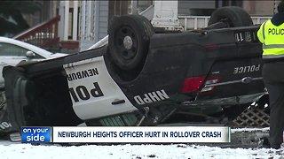 Newburgh Heights officer hurt in rollover crash