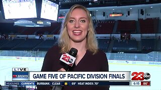 Pregame live shot ahead of Game 6 of the Pacific Division Finals