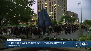 11 arrested following KC protest