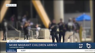 More migrant children arrive at San Diego Convention Center