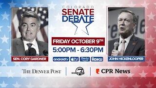 Gardner, Hickenlooper agree to Oct. 9 Senate debate hosted by Denver7, The Denver Post, CPR News