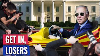 """PRESIDENT BIDEN THREATENS TO RUN OVER REPORTER WHO ASKED ABOUT ISRAEL - THEN SAYS IT'S A """"JOKE"""""""