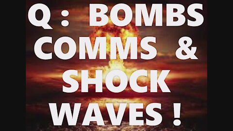 Q: Bombs Comms & Sonic Booms! Obama Clinton Biden Bush Gates Pope Francis ALL Pedos! Justice Coming!